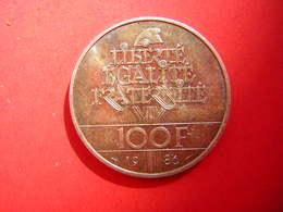 PIECE - FRANCE  100 FRANCS  1886 1986  STATUE DE LA LIBERTE  ARGENT 1986 - N. 100 Francos