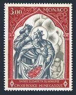 Monaco 721,MNH.Michel 927. Red Cross 1969.St Elizabeth,Husband Louis IV. - Christianity