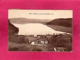 39 Jura, Château Et Lac De Chalain, 1922, (C. Lardier) - France