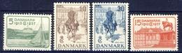 +B1463. Denmark 1937. King Christian 25 Years Jubilee. Michel 237-40. MNH(**) - Unused Stamps