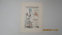 POULBOT / LE DEVOIR SOCIAL / à Ses Souscripteurs ... - Vieux Papiers