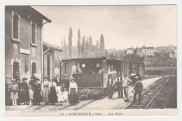 REPRODUCTION TRAIN TRAM Tramway 01 Jujurieux Vers Amérieu Pont D'Ain La Gare - France
