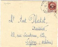 17-10-1944- Lettre De St ETIENNE ( Loire ) Affr. Pétain 1,50  Surcharge R.F. De Lyon - Oorlog 1939-45