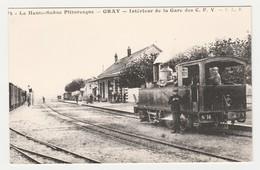 REPRODUCTION TRAIN TRAM Tramway 70 Gray La Gare Des CFV Locomotive Vapeur - Gray