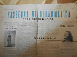 7a) RIVISTA GIORNALE RASSEGNA MELODRAMMATICA CORRIERE DI MUSICA NOTIZIARIO 1948 - Musique & Instruments