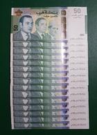 Maroc : 15 Billets Commémoratifs : Bank AL-Maghrib - Numéros Consécutifs - Marocco