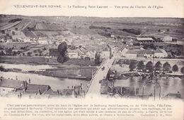 CPA - 89 - VILLENEUVE SUR YONNE - Le Faubourg Saint Laurent - Villeneuve-sur-Yonne