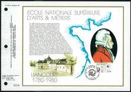 """Y/T N° 2087 Sur  1 FDC Gd Format - Oblit.1 Ier J. """"LIANCOURT - 17/5/80"""" - 200e Anniv. Ecole Sup. D'Arts Et Métiers. - FDC"""
