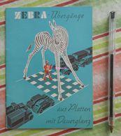 Zebra Übergänge Aus Platten Mit Dauerglanz - Route - Signalisation - 1954 - Transports