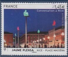 = Place Macéna à Nice, Statues De Jaume Plensa, N°4683 Oblitéré - France