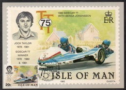 MOTO - BIKE - MOTORRAD / 1982 ILE DE MAN - CARTE MAXIMUM FDC (ref LE2498) - Moto