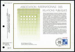 """Y/T N° 2091 Sur  1 FDC Gd Format - Oblit.1 Ier J. """"PARIS - 10/6/80"""" - 25 E Anniv Association Intern. Des Relations Publ. - 1980-1989"""