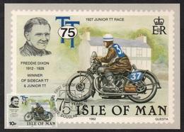 MOTO - BIKE - MOTORRAD / 1982 ILE DE MAN - CARTE MAXIMUM FDC (ref LE2499) - Moto