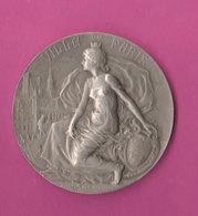 1937 Médaille Argent Union Horticole Avicole Nogent/Marne Villey Ville Paris 61gr Dim 5cm Prudhomme - Professionnels / De Société