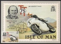 MOTO - BIKE - MOTORRAD / 1982 ILE DE MAN - CARTE MAXIMUM FDC (ref LE2500) - Moto