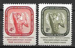 NATIONS - UNIES    -    1959 .  Y&T N° 70 / 71 ** .  L' Age Du Bronze De Rodin - New York -  VN Hauptquartier
