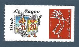 NOUVELLE CALEDONIE (New Caledonia)- RARE Timbre Personnalisé - 20ème Anniversaire De La Revue Le Cagou - 2018 - Nueva Caledonia