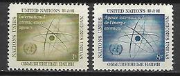 NATIONS - UNIES    -    1958 .  Y&T N° 56 / 57 ** .  Symbole De L' Atome - New York -  VN Hauptquartier