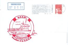 MARCOPHILIE - Soutien à La S.N.S.M. FROMENTINE Flamme De L'EPINE Du 19 - 4 - 03 - Marcophilie (Lettres)