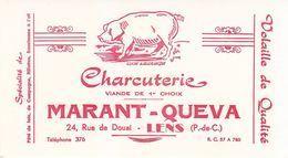 Buvard Charcuterie Marant-Queva Lens (Pas-de-Calais) Cochon - Buvards, Protège-cahiers Illustrés