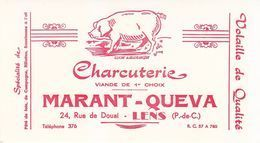 Buvard Charcuterie Marant-Queva Lens (Pas-de-Calais) Cochon - P