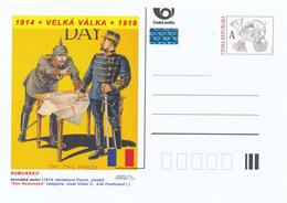 "Rep. Ceca / Cart. Postali (Pre2015/44) Grande Guerra (WWI) 17 Romania: ""Romanian Day"" (1916); Wilhelm II., Ferdinand I. - Interi Postali"