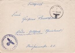 German Feldpost WW2: From Romania - SHD Abt. At SHD-Abteilung 42 Der Luftwaffe FP L41901 LGPA Wien P/m 26.9.1941 - Lette - Militaria