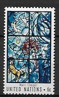 NATIONS - UNIES    -    1967 .  Y&T N° 174 * .  Vitrail De Marc Chagall - New York – UN Headquarters