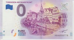 Billet Touristique 0 Euro Souvenir Allemagne Tubingen Neckarfront 2018-1 N°XEAU000778 - Essais Privés / Non-officiels