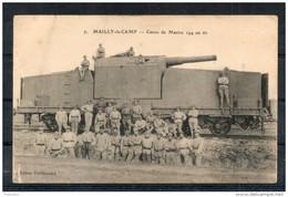10. Mailly Le Camp. Canon De Marine 194 Au Tir. Coins émoussés - Mailly-le-Camp