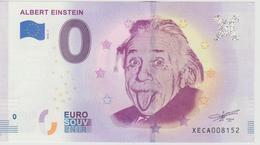 Billet Touristique 0 Euro Souvenir Allemagne Albert Einstein 2018-1 N°XECA008152 - EURO