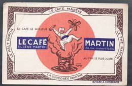 Paris Rue Joubert  : Buvard CAFE MARTIN  (PPP9393) - Coffee & Tea