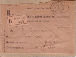 ALGERIE - AGENCE POSTALE  ? - LETTRE DE ZEMMOURA POUR ANGERS , RECOMMANDE + CACHET HEXAGONAL ZEMMOURA CONSTANTINE - 1934 - Algerien (1924-1962)