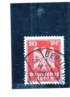 GERMANY GERMANIA GERMAN REICH EMPIRE IMPERO 1924 ARMS GERMAN EAGLE STEMMA AQUILA TEDESCA 10pf USATO USED OBLITERE' - Deutschland