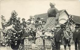 BRIARE - Fête,char Fleuri En 1929, Carte Photo. - Briare
