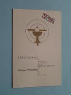 FEESTMAAL Plechtige Heilige KOMMUNIE Van Monique WOUTERS Op 26 Mei 1957 (VAVA) ! - Menus