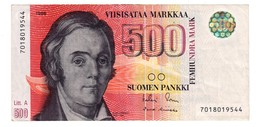 Finland 500 Marka 1986 Litt. A - Finlande