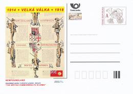 """Rep. Ceca / Cart. Postali (Pre2015/46) Grande Guerra 19 Terranova: """"IL COMMONWEALTH BRITANNICO IN BRACCIA"""" Poster - Buste"""