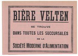 PUBLICITE EXTRAITE D'UN AGENDA BIERE VELTEN ( LYON BRASSERIE ) / AU DOS PATES ALIMENTAIRES LYONNAISES BERTRAND & Cie - Publicités