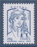 Marianne Et La Jeunesse 2013 Gommée X 1 Europe 20g, De Feuille  N° 4768 De Feuille - 2013-... Marianne De Ciappa-Kawena