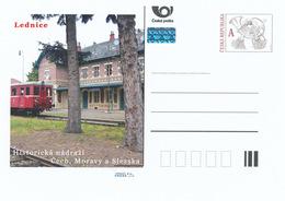 Rep. Ceca / Cart. Postali (Pre2015/48) Stazione Ferroviaria Storica In Boemia, Moravia E Slesia (1a Edizione) - Lednice - Fabbriche E Imprese