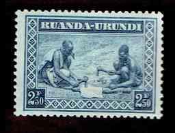 Ruanda-Urundi. OBP-COB. 1937 - N°113. *SCENES INDIGENES. ANIMAUX ET PAYSAGES. .   2,50F. Neuf - Ruanda-Urundi
