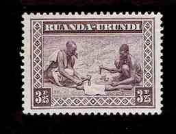 Ruanda-Urundi. OBP-COB. 1931 - N°102. *SCENES INDIGENES. ANIMAUX ET PAYSAGES. .   3,25F. Neuf - Ruanda-Urundi