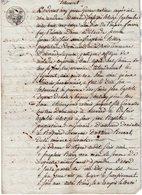 VP12.995 - ALLEVARD 1813 - Généalogie - Testament De Mme Adélaide PERRIN épouse Du Sr A.S BILLAZ - Manuscripts
