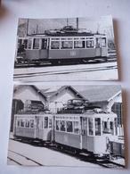 SUISSE : VERNAYAZ (Canton Du Valais) Anciennes Motrices Tramway De MARTIGNY - LOT De 2 Photos - Eisenbahnen