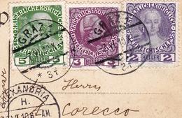 Carte Postale Graz Autriche Österreich 1910 Egypte Egypt Zagazig الزقازيق - Covers & Documents