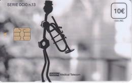 ISN-273 TARJETA DE ESPAÑA DE ISERN DE LA SERIE OCIO Nº13 TROMPETISTA-MUSICO - Música