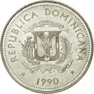 Monnaie, Dominican Republic, 25 Centavos, 1990, TTB, Nickel Clad Steel, KM:71.2 - Dominicana