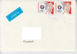 ALBANIA : FOOTBALL WORLD CUP 2018 RUSSIA , Cover Circulated To Romania - Free Shipping! Port Gratuit ! - 2018 – Russia