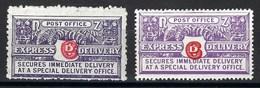 Nouvelle Zélande - Express - N° 1 Et 2 * - Neuf Avec Charnière - Timbres Express